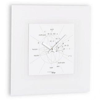 orologio incantesimo design modello astronimia bianco