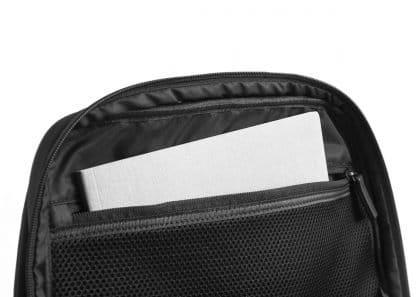 zaino nava aero organizzato con 3 scomparti tasca di sicurezza rfid colore nero tasca interna con zip