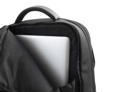 zaino nava aero organizzato con 3 scomparti tasca di sicurezza rfid colore nero tasca porta pc