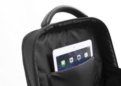 zaino nava aero organizzato con 3 scomparti tasca di sicurezza rfid colore nero tasca porta tablet