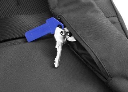 zaino nava aero organizzato con 3 scomparti tasca di sicurezza rfid colore nero tasca su spallaccio con zip
