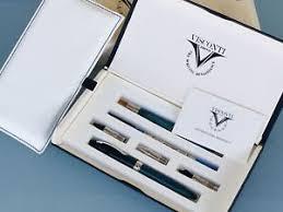 Set da scrittura arte della scrittura composto da una strilografica tre puntali sfera soller e stilografica con pennino tagliato intercambiambili ed una cannuccia con pennino in cristallo