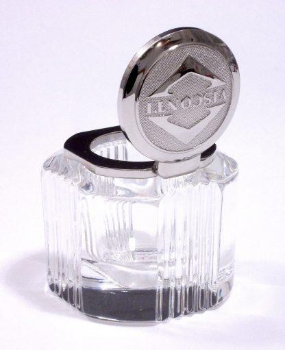 calamaio visconti in cristallo con finiture placcate palladio