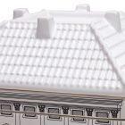 seletti palazzo borghese set da 6 piatti fondi serie palazzi all'interno dei piatti vi è serigrafata la mappa del piano di riferimento