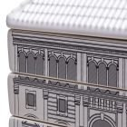 seletti set da 6 piatti da dolce serie palazzi palazzo del governo