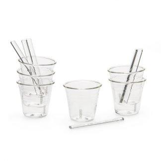 Seletti set da 6 bicchierini in vetro con pelettine