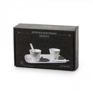 seletti tazzina da caffè con palettina serie estetico quotidiano confezione