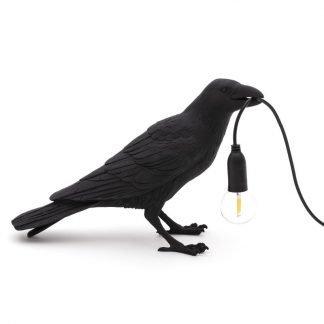 Seletti Lighting Marcantonio bird lamp colore nero