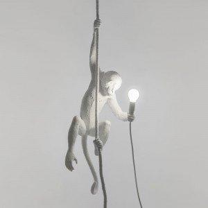 seletti monkey lamp appesa accesa per interni