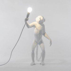 Seletti lampada scimmia in piedi resina di colore bianco