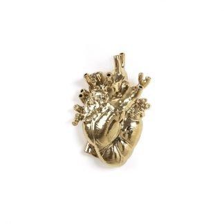 seletti LOVE in BLOOM cuore porta fiori gold
