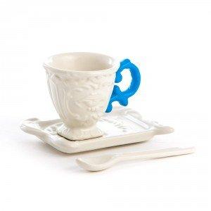 Seletti tazzina da caffe con manico colorato piattino e cucchiaino in porcellana serie i wares