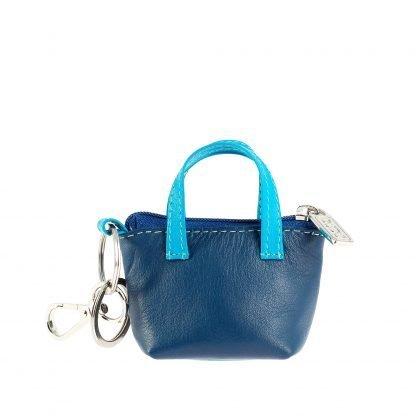borsetta portachiavi in pelle dudubags colore bluborsetta portachiavi in pelle dudubags colore blu