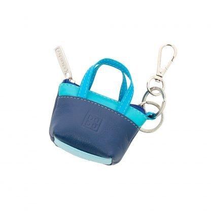 borsetta portachiavi in pelle dudubags colore blu