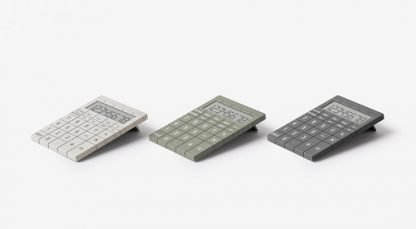 calcolatrice lexon mozaik colori bianco verde grigio