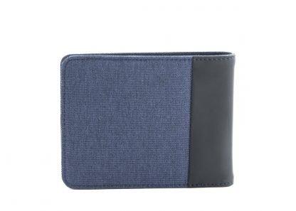 retro del portafoglio nava twin piccolo con 4 tasche per carte di credito portamonete rfid colore blu