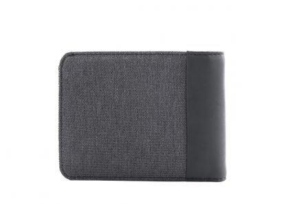 retro del portafoglio nava twin con 8 tasche per carte di credito rfid colore atracite