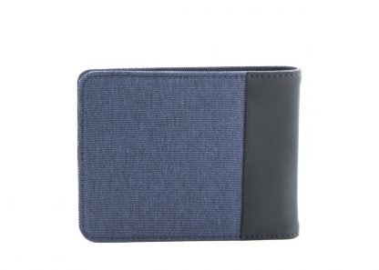 retro del portafoglio nava twin con 12 tasche per carte di credito rfid colore blu