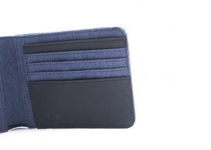 portafoglio nava twin con 12 tasche per carte di credito rfid colore blu