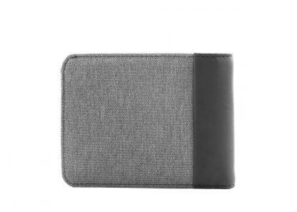 retro del portafoglio nava twin con 12 tasche per carte di credito rfid colore grigio