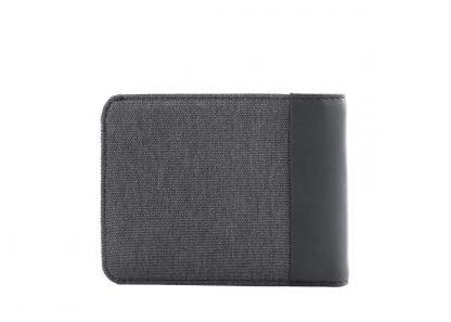 retro del portafoglio nava twin piccolo con 4 tasche per carte di credito portamonete rfid colore antracite