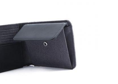 portafoglio nava twin piccolo con 4 tasche per carte di credito portamonete rfid colore antracite