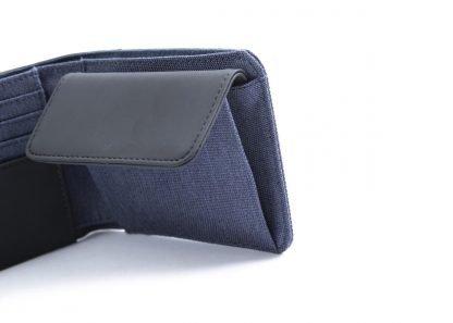 portafoglio nava twin piccolo con 4 tasche per carte di credito portamonete rfid colore blu