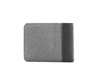 retro del portafoglio nava twin piccolo con 4 tasche per carte di credito portamonete rfid colore grigio