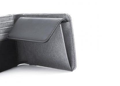 portafoglio nava twin piccolo con 4 tasche per carte di credito portamonete rfid colore grigio