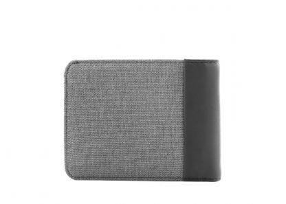 retro del portafoglio nava linea twin con 8 tasche per carte di credito e porta banconote ed rfid colore grigio