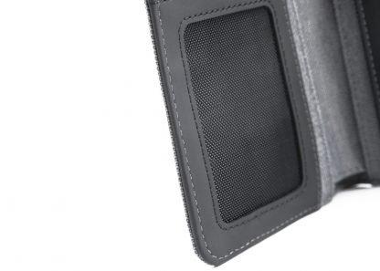 interno del portafoglio in verticale nava linea twin con 7 tasche per carte di credito ed rfid colore antracite