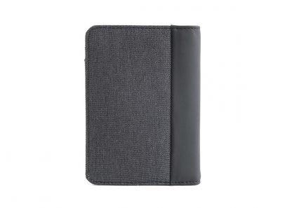 retro del portafoglio in verticale nava linea twin con 7 tasche per carte di credito ed rfid colore antracite