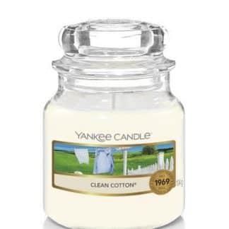 Giara piccola Yankee Candle fragranza Clean Cotton