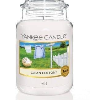 giara grande yankee candle fragranza Clean Cotton