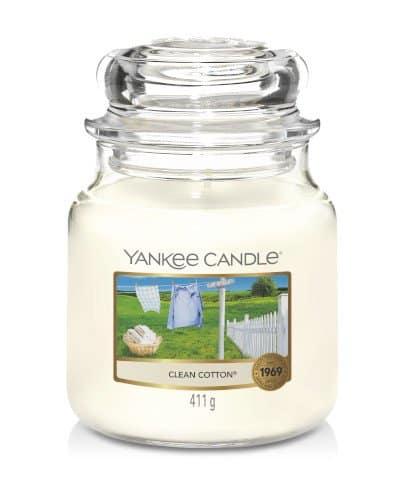 giara media yankee candle fragranza Clean Cotton