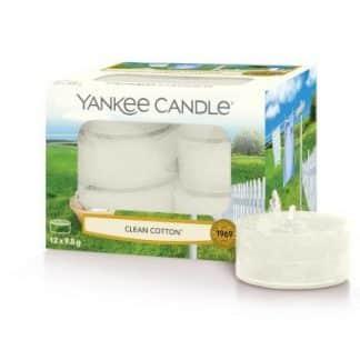 Tea light Yankee Candle fragranza Clean Cotton