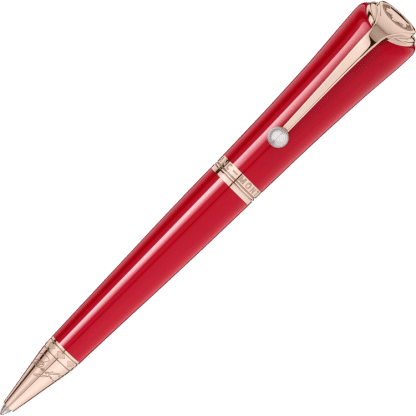penna a sfera Montblanc marilyn monroe special edition colore rosso finiture placcate in oro