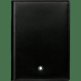 portafoglio verticale Montblanc Meisterstück in pelle di vitello colore nero