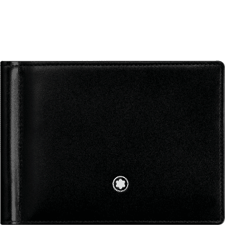 Portafoglio Montblanc Meisterstück in pelle di vitello colore nero con emnlema montblanc su parte anteriore