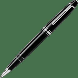 penna roller Montblanc Meisterstück Le Grand in pregiata resina nera finiture platino