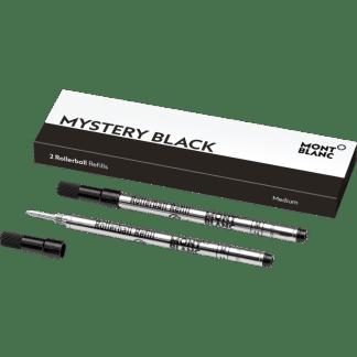 confezione da 2 refill per penna roller Montblanc tratto medium colore mystery black