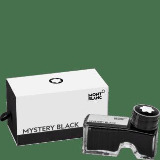 flacone d'inchistro per stilografica montblanc colore mystery black
