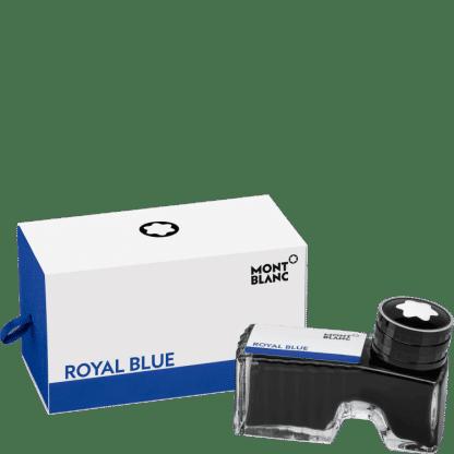 flacone d'inchistro per stilografica montblanc colore royal blue