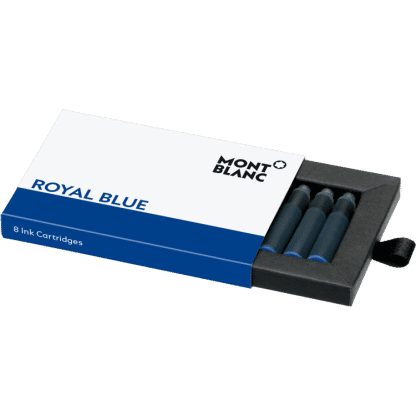 Confezione da 8 cartucce per stilografica Montblanc colore royal blue