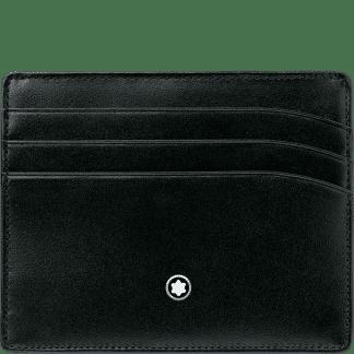 Porta carte di credito Montblanc Meisterstück con 7 tasche in pelle di vitello colore nero