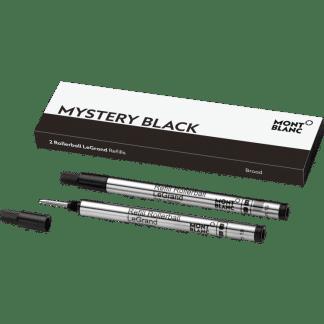confezione da 2 refill per penna roller Le Grand Montblanc tratto broad colore mystery black