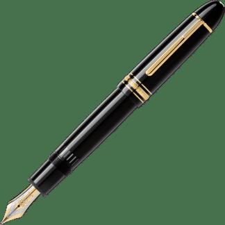 Stilografica Montblanc Meisterstück Gold Coated 149 pregiata resina nera con finiture oro
