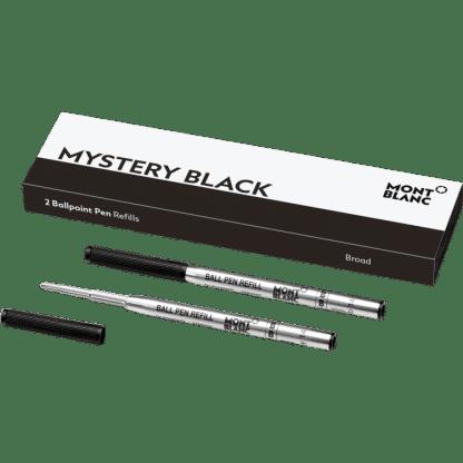 confezione da 2 refill per penna a sfera Montblanc tratto broad colore mystery black