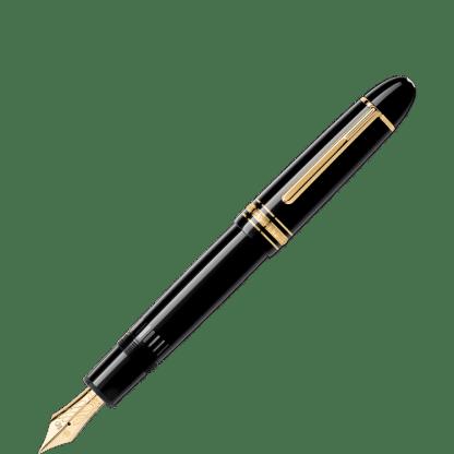 Montblanc Meisterstück 149 con pennino flex nib in pregiata resina nera e finiture dorate