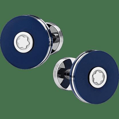 gemelli Montblanc blu con emblema Montblanc